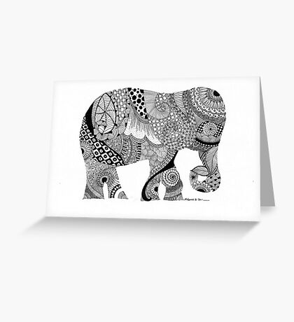 Elephant abstract Greeting Card