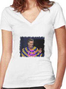 Peace Mitt? Women's Fitted V-Neck T-Shirt