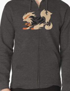 Legendary Flame - Arcanine (Fierce) Zipped Hoodie