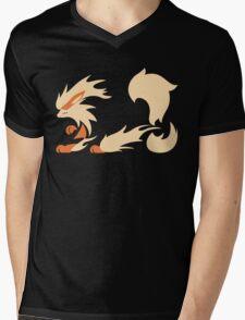 Legendary Flame - Arcanine (Fierce) Mens V-Neck T-Shirt