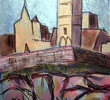 Rock of Cashel- Acrylic 3 by Tipptoggy