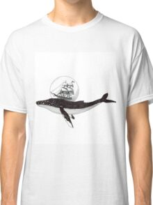 Ships and whales Classic T-Shirt
