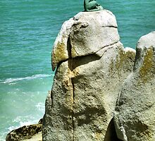 Leopard Sculpture at Hout Bay by Carole-Anne