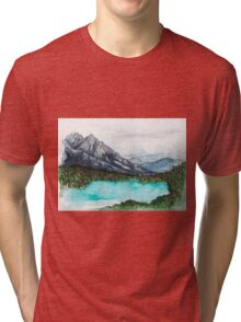 Lake Nature Scene Tri-blend T-Shirt