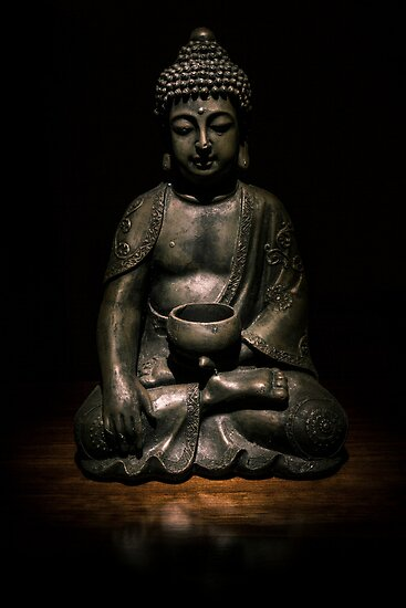 Light Painted Buddah by Kerrod Sulter