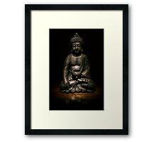 Light Painted Buddah Framed Print