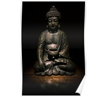 Light Painted Buddah Poster