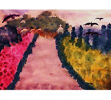 Down the lane (Fauve), watercolor Photographic Print