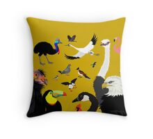 I Am Thankful For Birds Throw Pillow