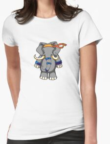 ninjitzoo - dung fu Womens Fitted T-Shirt
