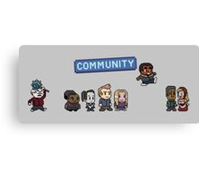 Pixel Community Canvas Print