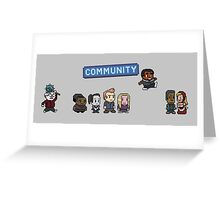 Pixel Community Greeting Card