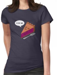Fork Me QT Pi Womens Fitted T-Shirt