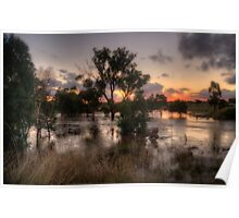 Flooding Rains - Junee, NSW Australia  - The HDR Experience Poster