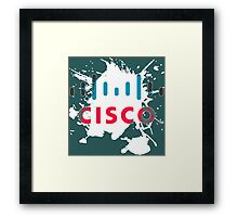 Cisco Logo White Glow Framed Print