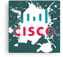 Cisco Logo White Glow Canvas Print