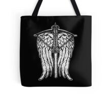Angel Wings and Crossbow (Dirty) Tote Bag