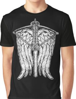 Angel Wings and Crossbow (Dirty) Graphic T-Shirt