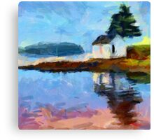 Small House on the Lake Canvas Print