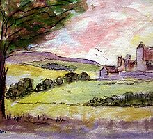 Rock of Cashel Sketch 5 by Tipptoggy