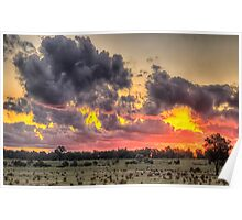 Sunset Rhapsody - Junee, NSW Australia - The HDR Experience Poster