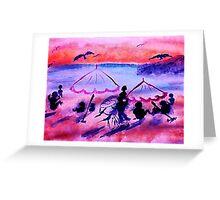 Visiting, watercolor Greeting Card