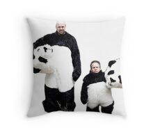 Karl and Warwick Throw Pillow
