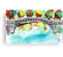 Bow Bridge Canvas Print