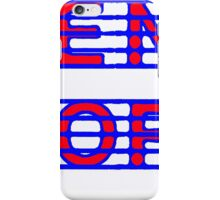 French Horn Red and Blue iPhone Case/Skin