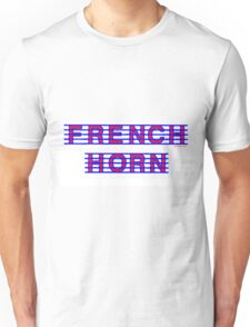 French Horn Red and Blue Unisex T-Shirt