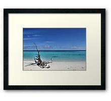Island Sculpture Framed Print