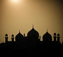 silhouette of minarets and dome  by zaghumkhan