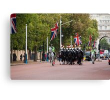 Horse Guards and Police Escort in The Mall Canvas Print