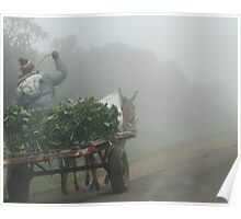 Off to market one misty morning Poster