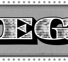 Megatrip - Dolla Dolla Bill (gray)  Sticker