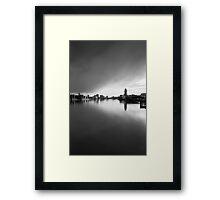Clouds on Thames Framed Print