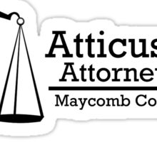 To Kill A Mockingbird: Atticus Finch, Attorney at Law Sticker