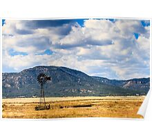Windmill New Mexico Poster