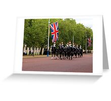 Household Cavalry in The Mall Greeting Card