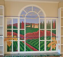 Tuscan Vineyard Mural by Eldon Ward