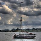 Thames sailing barge by larry flewers
