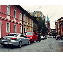 The Street and the cars Photographic Print