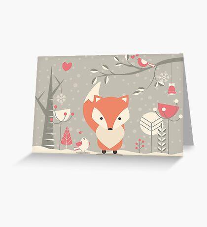 Christmas baby fox 03 Greeting Card