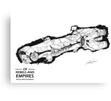 Blockade runner (Of Rebels and Empires) Canvas Print