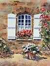 French Cottage Window by Ann Mortimer