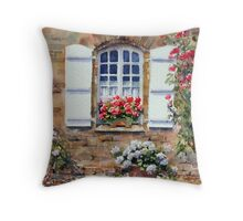 French Cottage Window Throw Pillow
