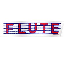 Flute Blue and Red Poster