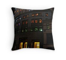 Worldwide Plaza, 8th Avenue, NYC Throw Pillow