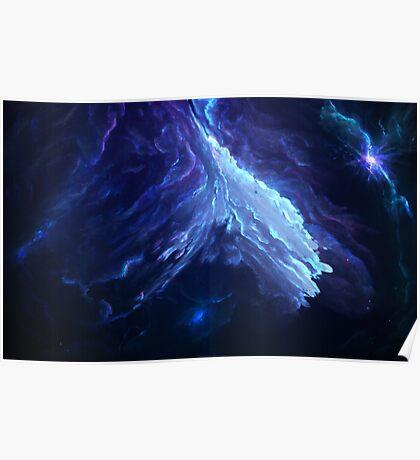 Fields of Utopia Nebula by Starkiteckt Poster