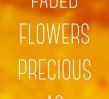 Faded Flowers (golden) Sticker